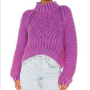 Free people sweetheart sweater purple S